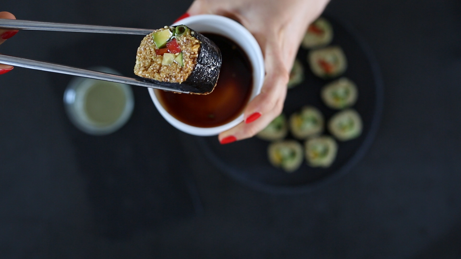 Raw vegan  Sushi Ingredients plants make food